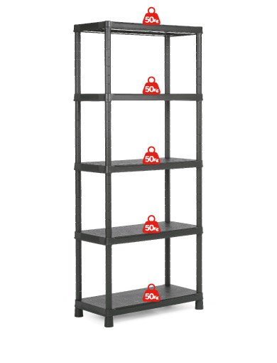 Стеллаж Kis Plus Shelf 80/5